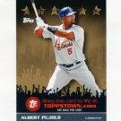 2009 Topps Topps Town Gold #TTT13 Albert Pujols - St. Louis Cardinals