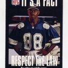1995 FACT NFL Properties Football #13 Michael Irvin - Dallas Cowboys