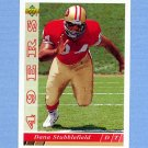 1993 Upper Deck Football #477 Dana Stubblefield RC - San Francisco 49ers