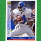 1993 Upper Deck Football #397 Shannon Sharpe - Denver Broncos