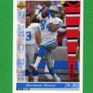 1993 Upper Deck Football #390 Herman Moore - Detroit Lions