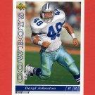 1993 Upper Deck Football #142 Daryl Johnston - Dallas Cowboys