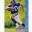 1993 Upper Deck Football #015 Robert Smith RC - Minnesota Vikings
