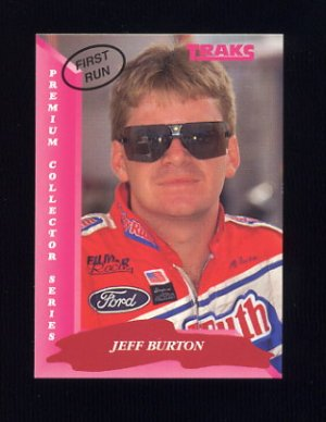 1993 Traks First Run Racing #037 Jeff Burton
