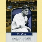 2008 Upper Deck Yankee Stadium Legacy Collection #0195 Lou Gehrig - New York Yankees