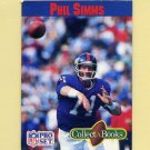 1990 Pro Set Collect-A-Books Football #03 Phil Simms - New York Giants