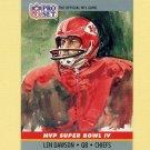 1990 Pro Set Super Bowl MVP's Football #04 Len Dawson - Kansas City Chiefs