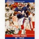 1990 Pro Set Football #444 Thurman Thomas - Buffalo Bills