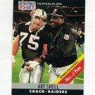 1990 Pro Set Football #161A Art Shell CO - Los Angeles Raiders