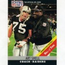 1990 Pro Set Football #161B Art Shell CO - Los Angeles Raiders