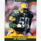 1990 Pro Set Football #110A Johnny Holland - Green Bay Packers