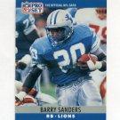 1990 Pro Set Football #102 Barry Sanders - Detroit Lions