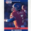 1990 Pro Set Football #088 John Elway - Denver Broncos