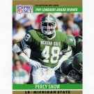 1990 Pro Set Football #021A Percy Snow - Kansas City Chiefs
