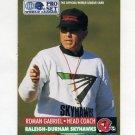 1991 Pro Set Football WLAF Inserts #24 Roman Gabriel CO - Raleigh-Durham Skyhawks