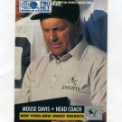 1991 Pro Set Football WLAF Inserts #18 Mouse Davis CO - New York-New Jersey Knights