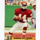 1991 Pro Set Football #750 Harvey Williams RC - Kansas City Chiefs