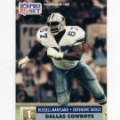 1991 Pro Set Football #730 Russell Maryland - Dallas Cowboys