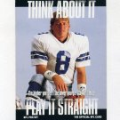 1991 Pro Set Football #372B Troy Aikman - Dallas Cowboys