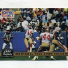 1991 Pro Set Football #329 Jerry Rice / Joe Montana - San Francisco 49ers ExMt