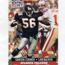 1991 Pro Set Football #092B Darion Conner - Atlanta Falcons