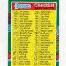 1991 Donruss Baseball #770 Checklist 703-770 / BC1-BC22