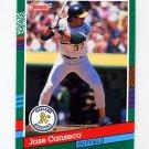 1991 Donruss Baseball #536 Jose Canseco - Oakland A's
