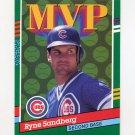 1991 Donruss Baseball #404 Ryne Sandberg MVP - Chicago Cubs