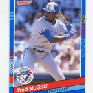 1991 Donruss Baseball #261 Fred McGriff - Toronto Blue Jays