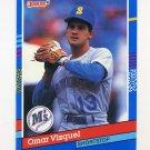 1991 Donruss Baseball #231 Omar Vizquel - Seattle Mariners