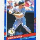 1991 Donruss Baseball #105 Mark McGwire - Oakland A's