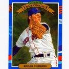 1991 Donruss Baseball #009 Roger Clemens DK - Boston Red Sox NM-M