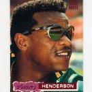 1994 Stadium Club Baseball #654 Rickey Henderson - Oakland A's