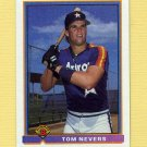 1991 Bowman Baseball #542 Tom Nevers RC - Houston Astros