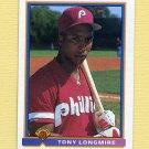 1991 Bowman Baseball #489 Tony Longmire RC - Philadelphia Phillies