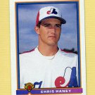 1991 Bowman Baseball #443 Chris Haney RC - Montreal Expos