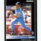 1992 Pinnacle Baseball #060 George Brett - Kansas City Royals