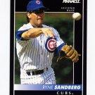 1992 Pinnacle Baseball #010 Ryne Sandberg - Chicago Cubs