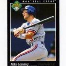 1993 Pinnacle Baseball #620 Mike Lansing RC - Montreal Expos