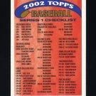 2002 Topps Baseball #4 of 4 Series 1 Checklist