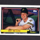 1992 Topps Baseball #545 Andy Van Slyke - Pittsburgh Pirates