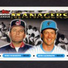 1993 Topps Baseball #505 Mike Hargrove MG Indians / Rene Lachemann MG Marlins