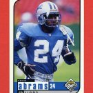 1998 UD Choice Football #063 Kevin Abrams RC - Detroit Lions