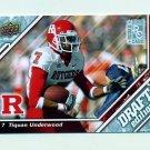 2009 Upper Deck Draft Edition Football #119 Tiquan Underwood RC - Rutgers