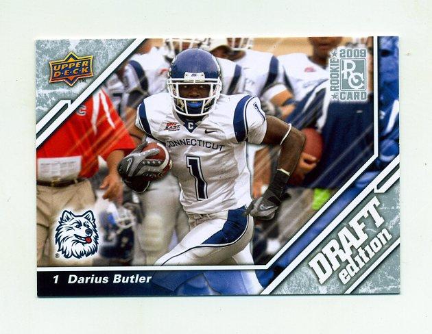 2009 Upper Deck Draft Edition Football #106 Darius Butler RC - Connecticut