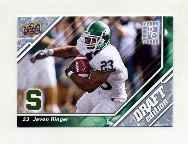 2009 Upper Deck Draft Edition Football #021 Javon Ringer RC - Michigan State