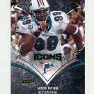2008 Upper Deck Icons Football #054 Jason Taylor - Miami Dolphins