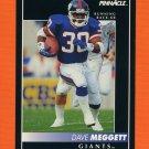 1992 Pinnacle Football #171 Dave Meggett - New York Giants