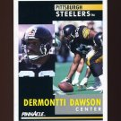 1991 Pinnacle Football #049 Dermontti Dawson - Pittsburgh Steelers