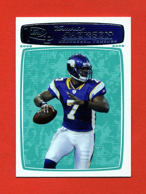 2008 Topps Rookie Progression Football #120 Tarvaris Jackson - Minnesota Vikings